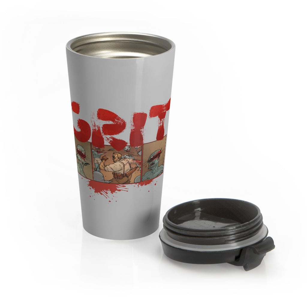 Grit (Ogre Design) - Black Stainless Steel Travel Mug