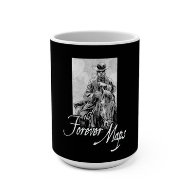Forever Maps (Horseback Logo Design) - Black Coffee Mug 15oz