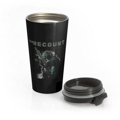 The Recount (Design Two) - Black Stainless Steel Travel Mug
