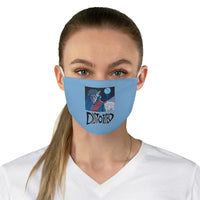Distorted (Cover Design) - Blue Fabric Face Mask
