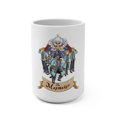 The Mapmaker (Design 1) - White Coffee Mug 15oz