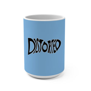 Distorted (Logo Design) - Light Blue Coffee Mug 15oz