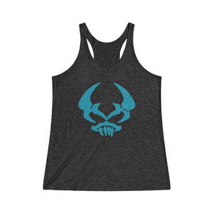 By The Horns (Horn Hunter Symbol) - Women's Tri-Blend Racerback Tank