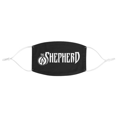 The Shepherd (Logo Design) - Black Fabric Face Mask
