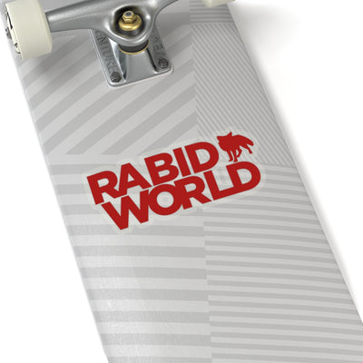 Rabid World (Logo Design) - Kiss-Cut Stickers