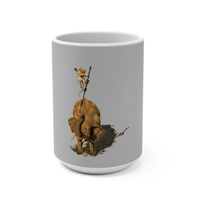 Sengi And Tembo (Design One) - Grey Coffee Mug 15oz