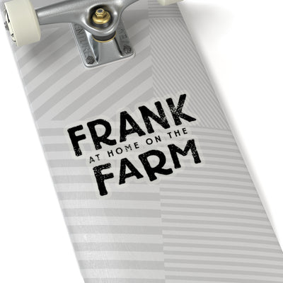 Frank At Home On The Farm (Logo Design) - Kiss-Cut Stickers