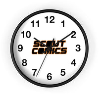 Scout Comics (Black Logo) - Wall Clock