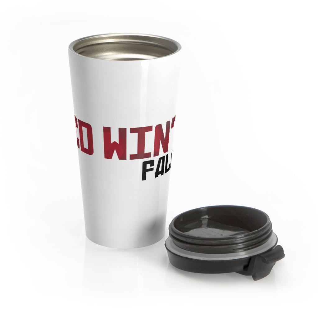 Red Winter: Fallout  (Logo Design) - Stainless Steel Travel Mug