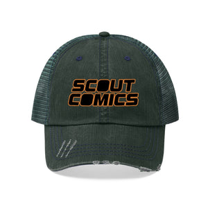 Scout Comics (Black Logo Design) - Unisex Trucker Hat