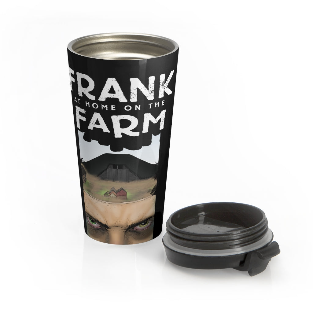 Frank At Home On The Farm (Issue One Design) - Black Stainless Steel Travel Mug
