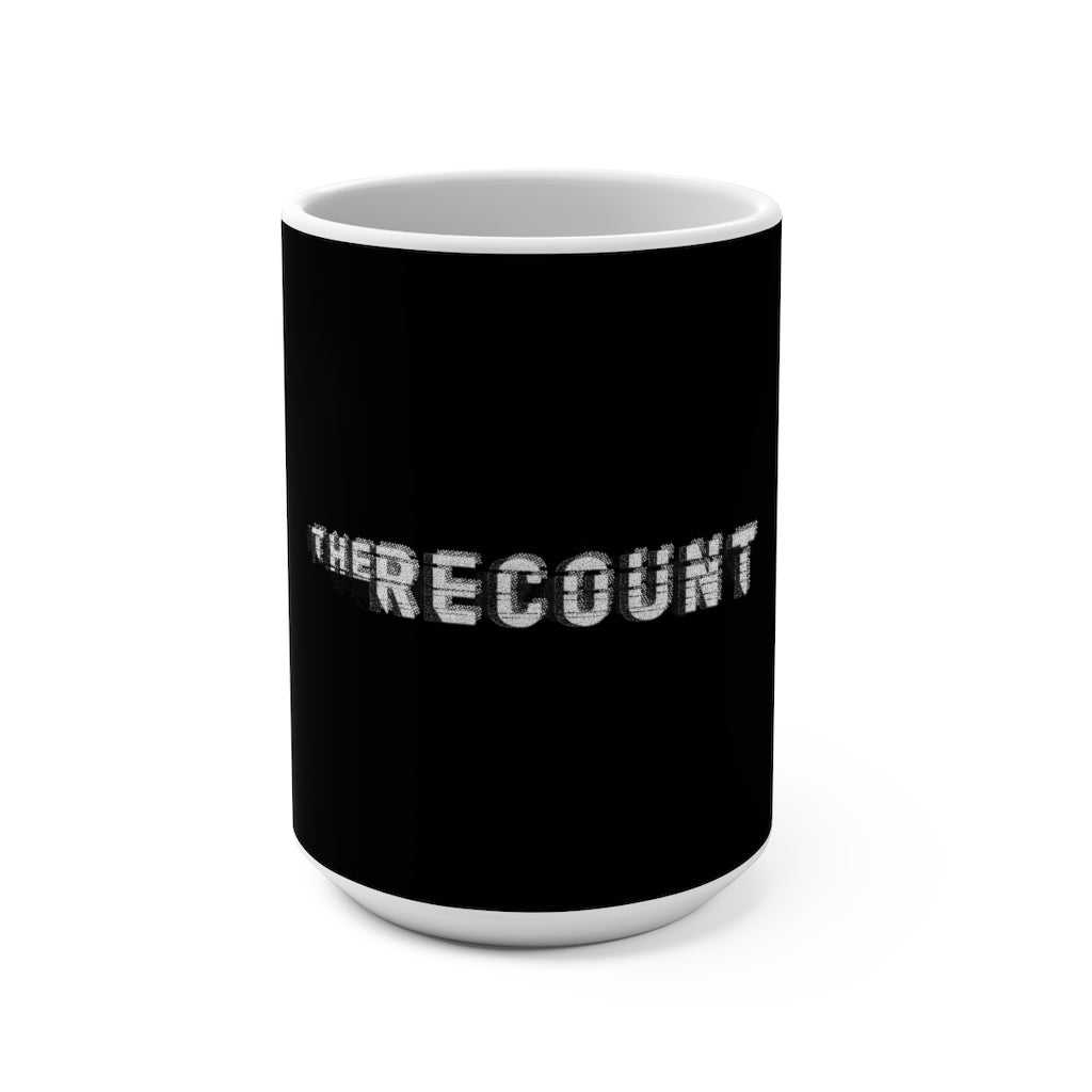 The Recount (Grey Logo Design) - Black Mug 15oz