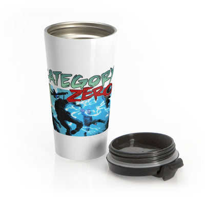 Category Zero (Shock Design) - Stainless Steel Travel Mug