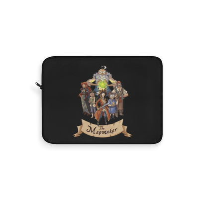 The Mapmaker (Design 2) - Black Laptop Sleeve