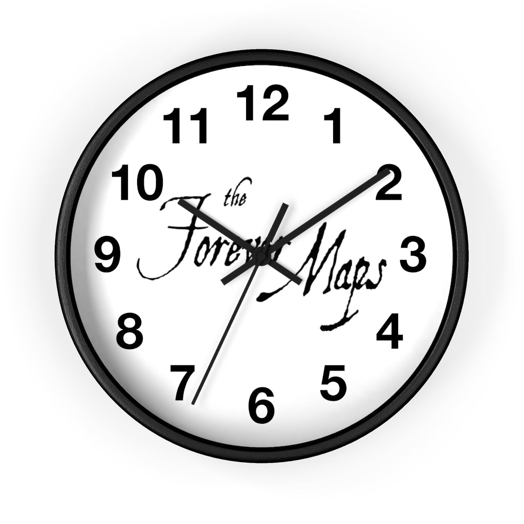 Forever Maps (Logo Design) - Wall Clock
