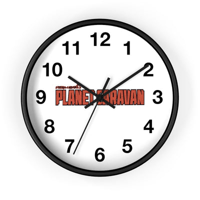 Planet Caravan (Logo Design) - Wall Clock