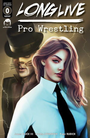Long Live Pro Wrestling #0 - Piper Rudich/Comic Tom Variant Cover