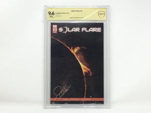 CBCS Graded - Solar Flare #3 - Original Kickstarter Sunburst Cover - Signature Series - 9.6
