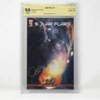 CBCS Graded - Solar Flare #5 - Original Kickstarter Sunburst Cover - Signature Series - 9.8