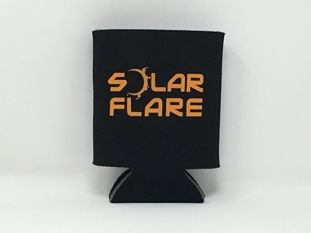 Solar Flare - Black and Orange Koozie