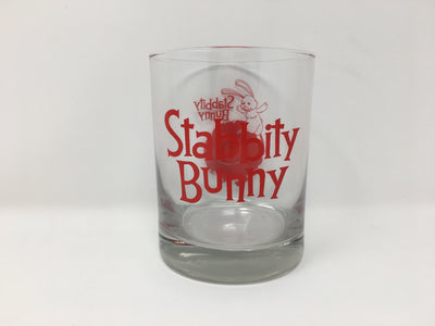 Stabbity Bunny - Glass Cup