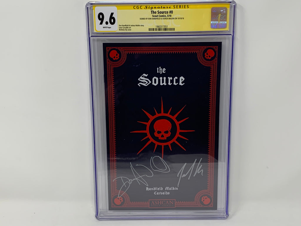 CGC Graded - The Source - ASHCAN Preview - Signature Series - 9.6