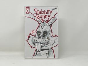 Stabbity Bunny #6 - Bryan Silverbax Sketch Cover - Zombie