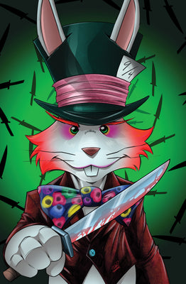 Stabbity Ever After Wonderland #1 - Mad Hatter Virgin Variant Cover