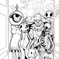 Stabbity Bunny #1 - NYCC Exclusive Cover - B&W