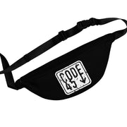 Code 45 (Black Logo Design) - Black Fanny Pack