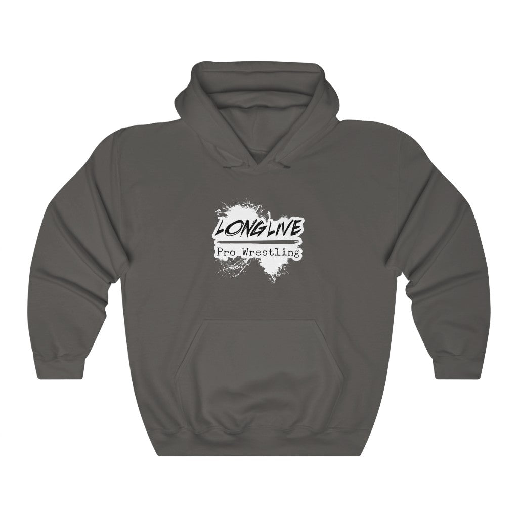 Long Live Pro Wrestling (Logo Design)  -  Heavy Blend™ Hooded Sweatshirt