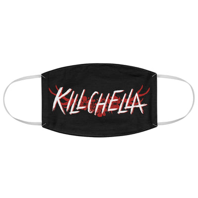 Killchella (White Logo Design) - Black Fabric Face Mask