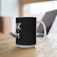Frank At Home On The Farm (Logo Design) - Black Coffee Mug 15oz