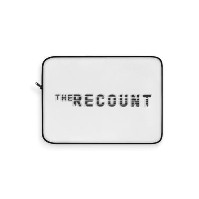 The Recount (Grey Logo Design) - White Laptop Sleeve