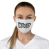 Distorted (Black Logo) - Fabric Face Mask