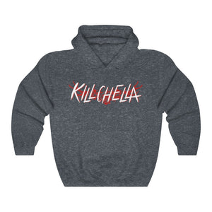 Killchella (White Logo Design) - Heavy Blend™ Hooded Sweatshirt
