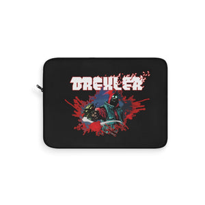 Drexler (Bullet Hole Design) - Black Laptop Sleeve