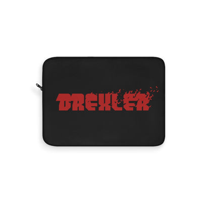 Drexler (Red Logo Design) - Black Laptop Sleeve