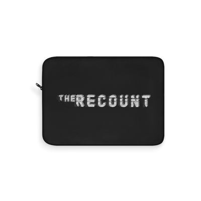 The Recount (Grey Logo Design) - Black Laptop Sleeve
