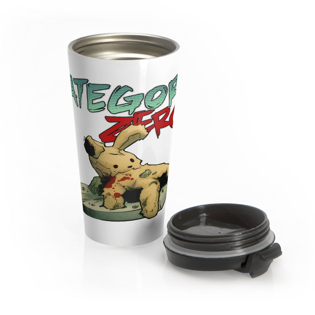 Category Zero (Teddy Bear Design) - Stainless Steel Travel Mug