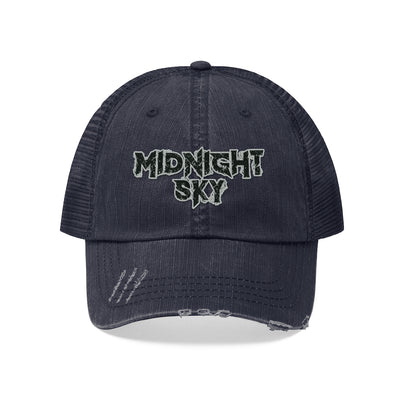 Midnight Sky (Black Logo Design) - Unisex Trucker Hat