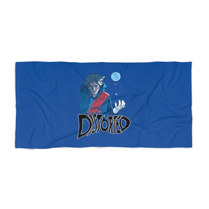 Distorted (Promo 2 Design) - Navy Blue Beach Towel