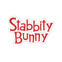 Stabbity Bunny (Logo Design) - Kiss-Cut Stickers