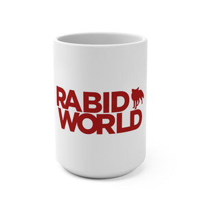 Rabid World (Red Logo Design) - White Coffee Mug 15oz