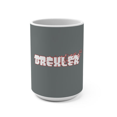 Drexler (White Logo Design) - Grey Coffee Mug 15oz