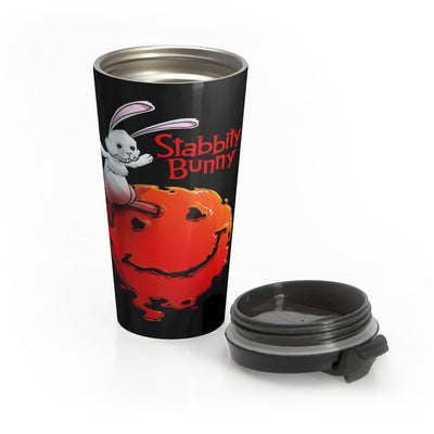 Stabbity Bunny (#1 Cover Design) - Stainless Steel Travel Mug