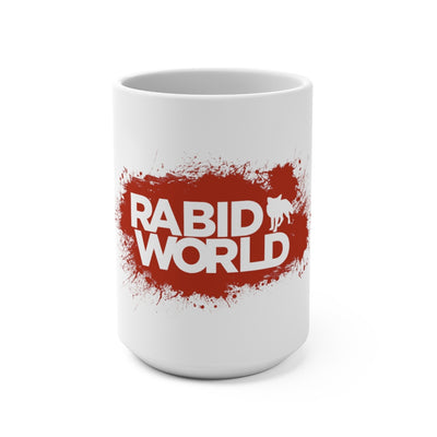 Rabid World (Red Splatter Logo Design) - White Coffee Mug 15oz