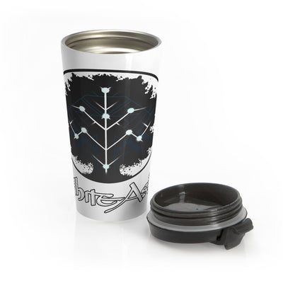 White Ash (Logo Design) - Stainless Steel Travel Mug