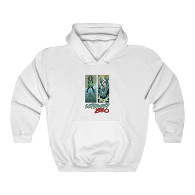 Category Zero (Logo Girl Design)  -  Heavy Blend™ Hooded Sweatshirt