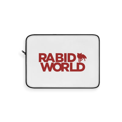 Copy of Rabid World (Logo Design) - White Laptop Sleeve